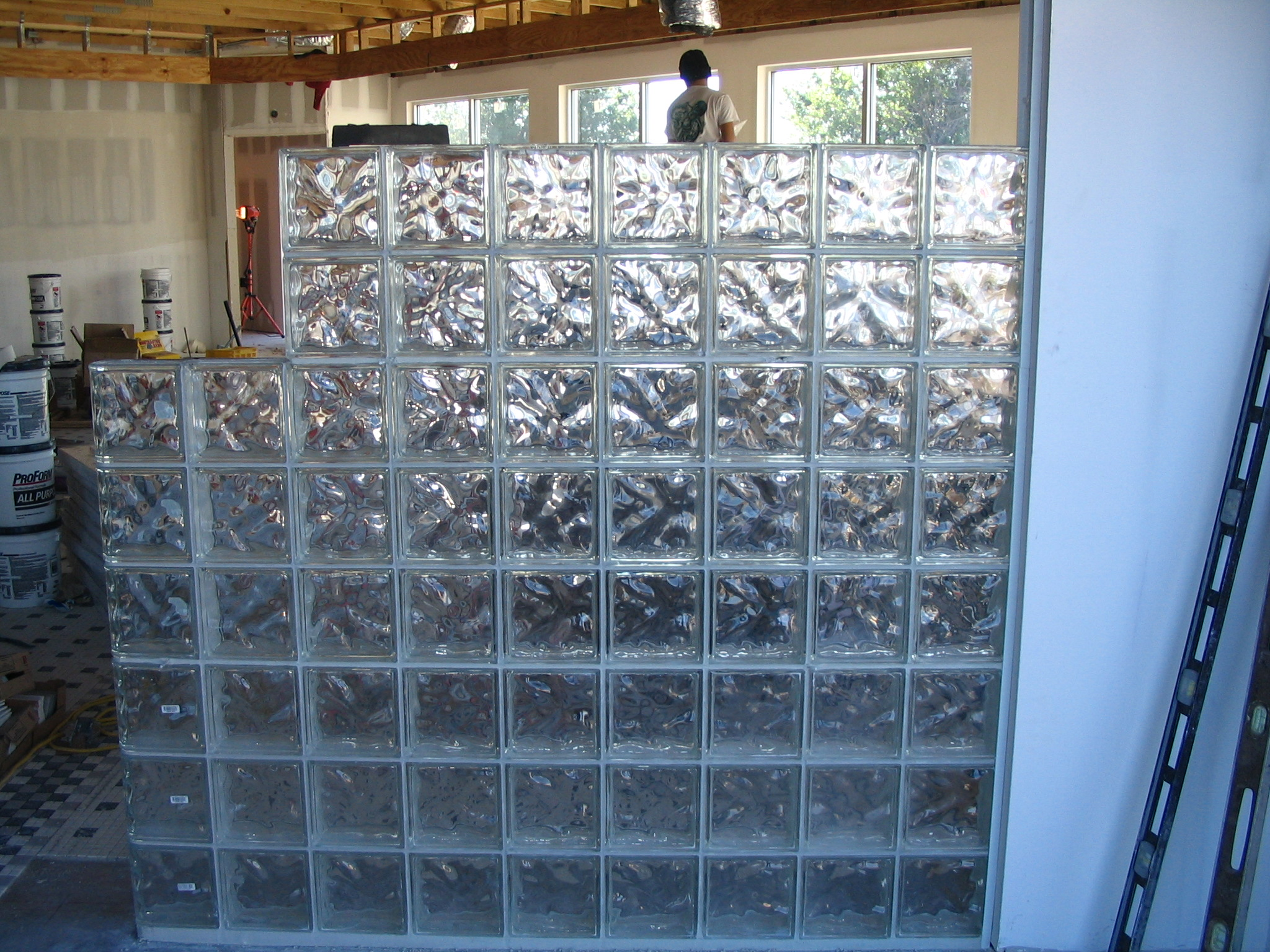 glass blocks installation
