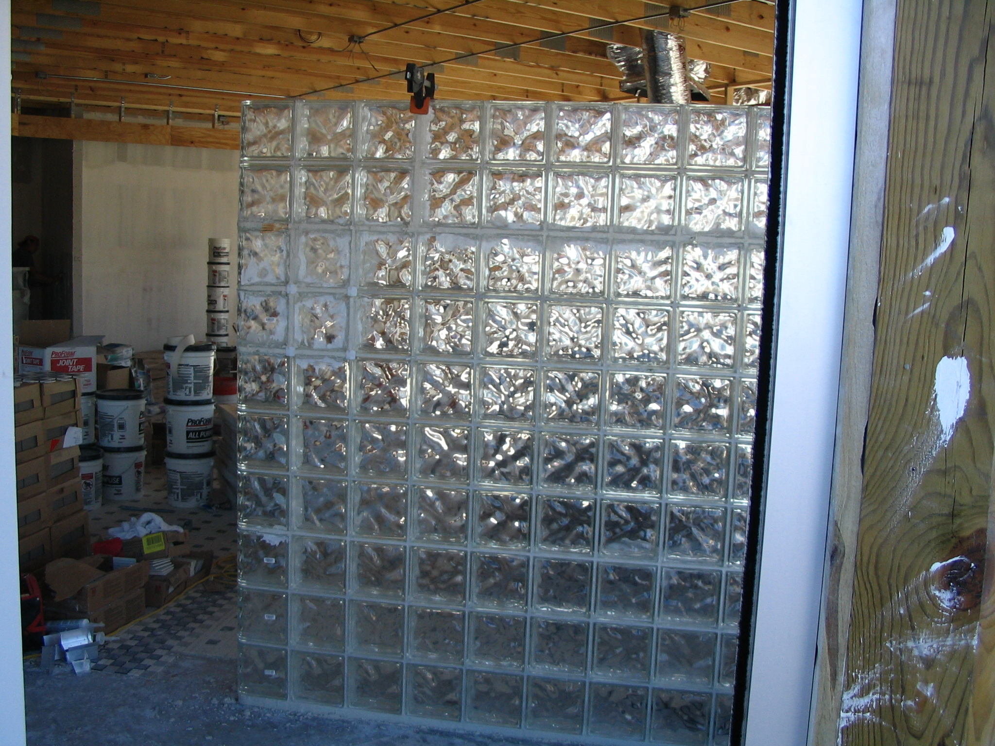 glass blocks wall