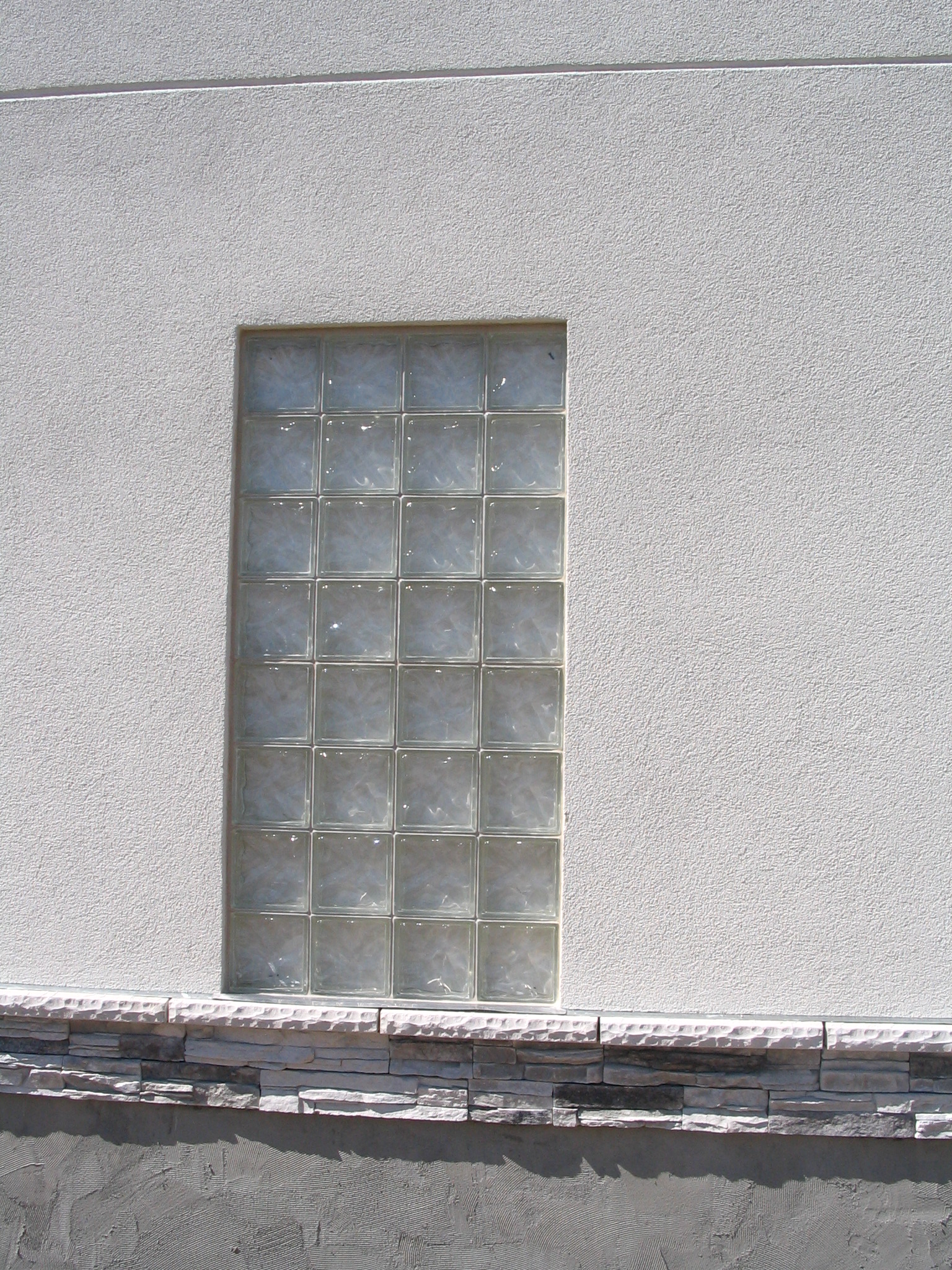 glass blocks exterior wall
